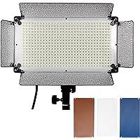 Neewer 500 LED Panel de Iluminación de Foto de Estudio,Difusor,2 Filtro de Color(Naranja y Azul) y 4 Regulador de Intensidad para Canon Nikon Pentax Panasonic Sony Samsung Olympus y otras Cámaras DSLR