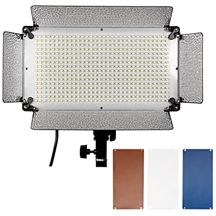 Neewer 500 LED Photo Studio Lighting Panel, Diffuser, 2 Color  Filters(Orange and Blue) and 4 Dimmer Switch for Canon Nikon Pentax  Panasonic Sony