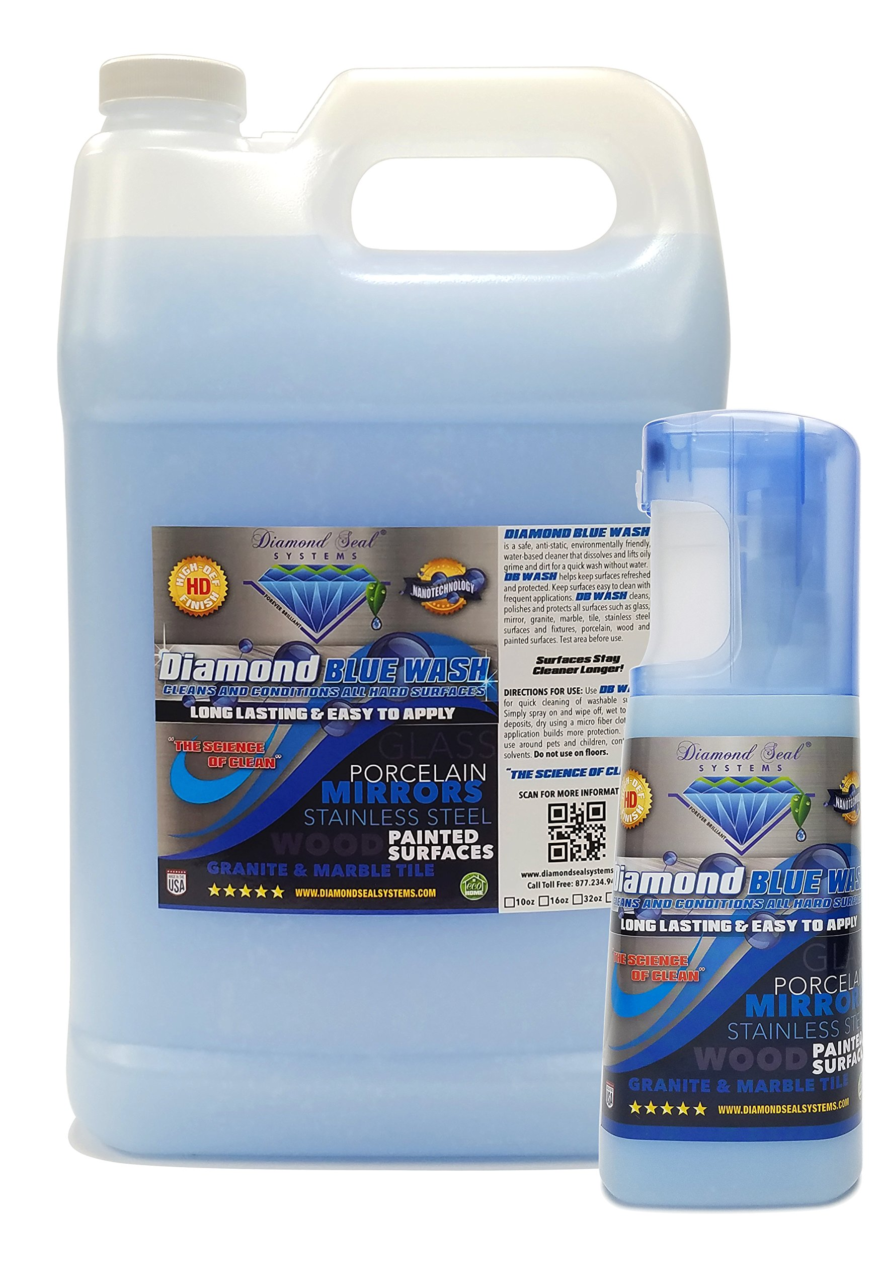 Diamond Blue Wash Repellent Cleaner 1 Gallon comes with a full Free 10 Oz Spray Bottle Direct From the Manufacturer
