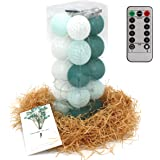 20 Cotton Ball String Fairy Night Lights USB LED Bulb Bedroom Party Decoration