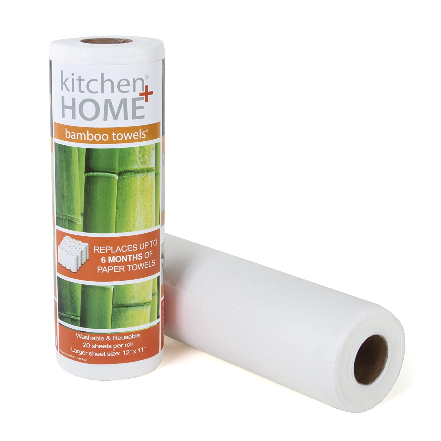 Bamboo Towels - Heavy Duty Eco Friendly Machine Washable Reusable Bamboo Towels - One roll Replaces 6 Months of Towels! (1)