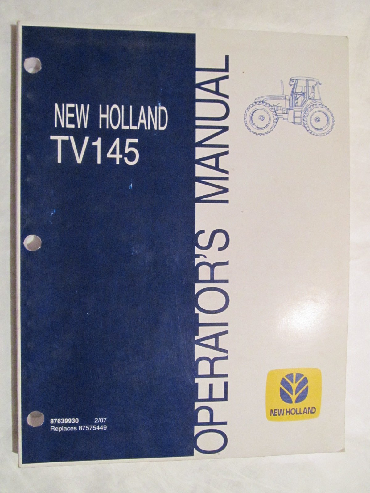 New Holland TV145 Tractor Operators Manual: New Holland: Amazon.com: Books
