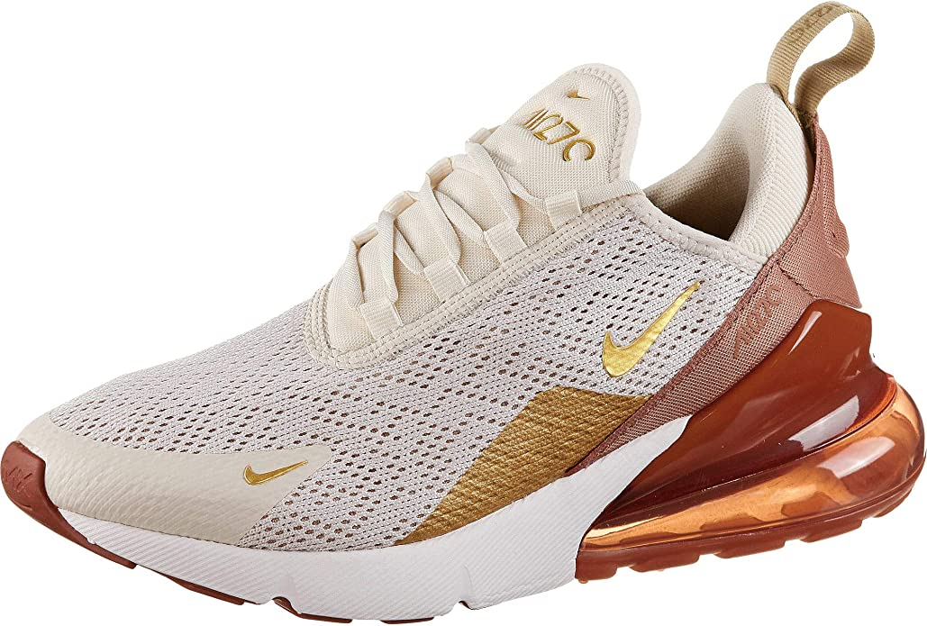 Nike Air Max 270 SE Sneakers Damen Weiß/Gold/Braun (Light Cream/ Metallic Gold/ Terra Blush)