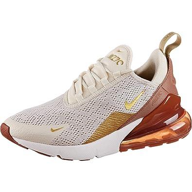 buy popular 9ccb7 b1731 Nike Women s Air Max 270 Light Cream Metallic Gold Terra Blush Dusty Peach