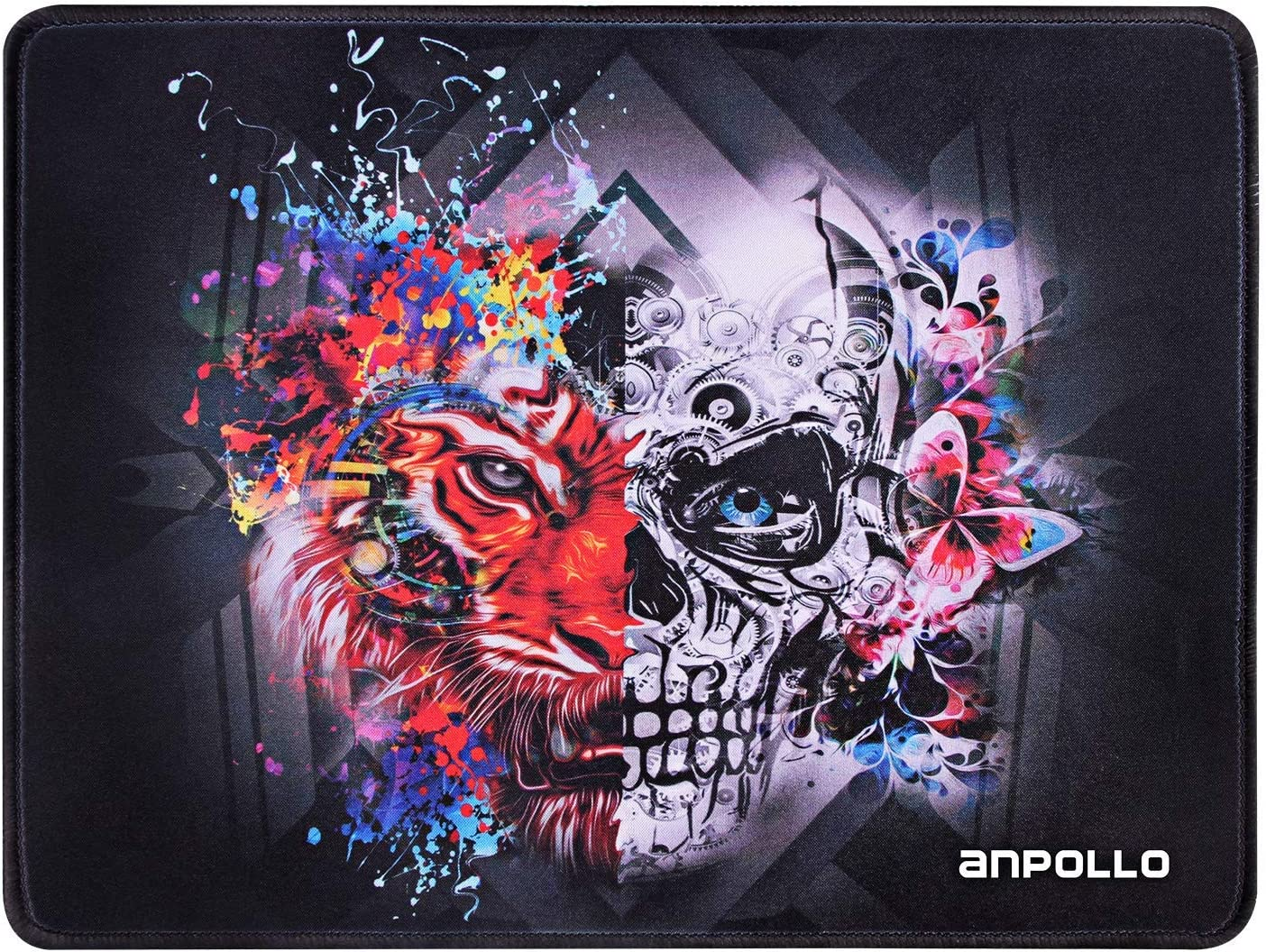 320 x 240 x 2 mm Anpollo Mouse Mat Gaming Compatible with Laser and Optical Mice Non-Slip Rubber Base