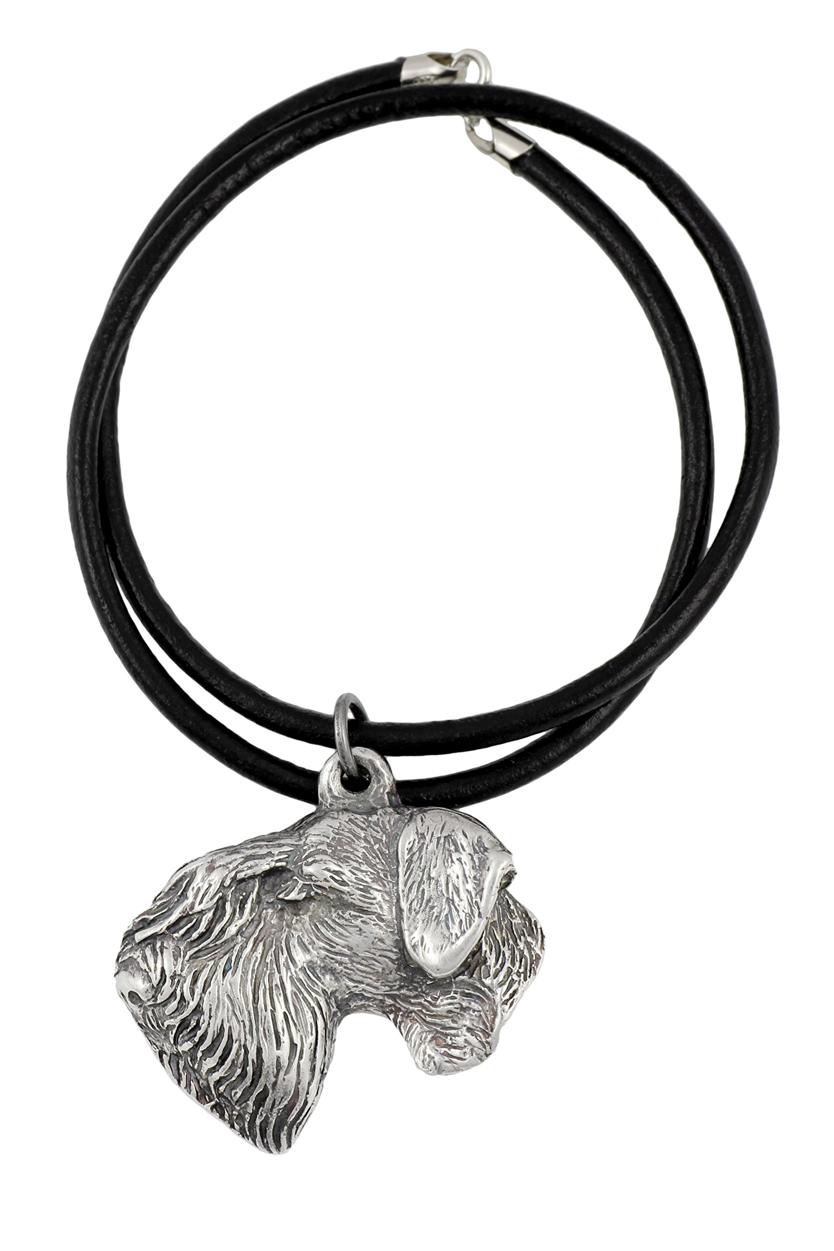 Cesky Terrier, Silver Hallmark 925, Dog Silver Necklaces, Limited Edition, Artdog