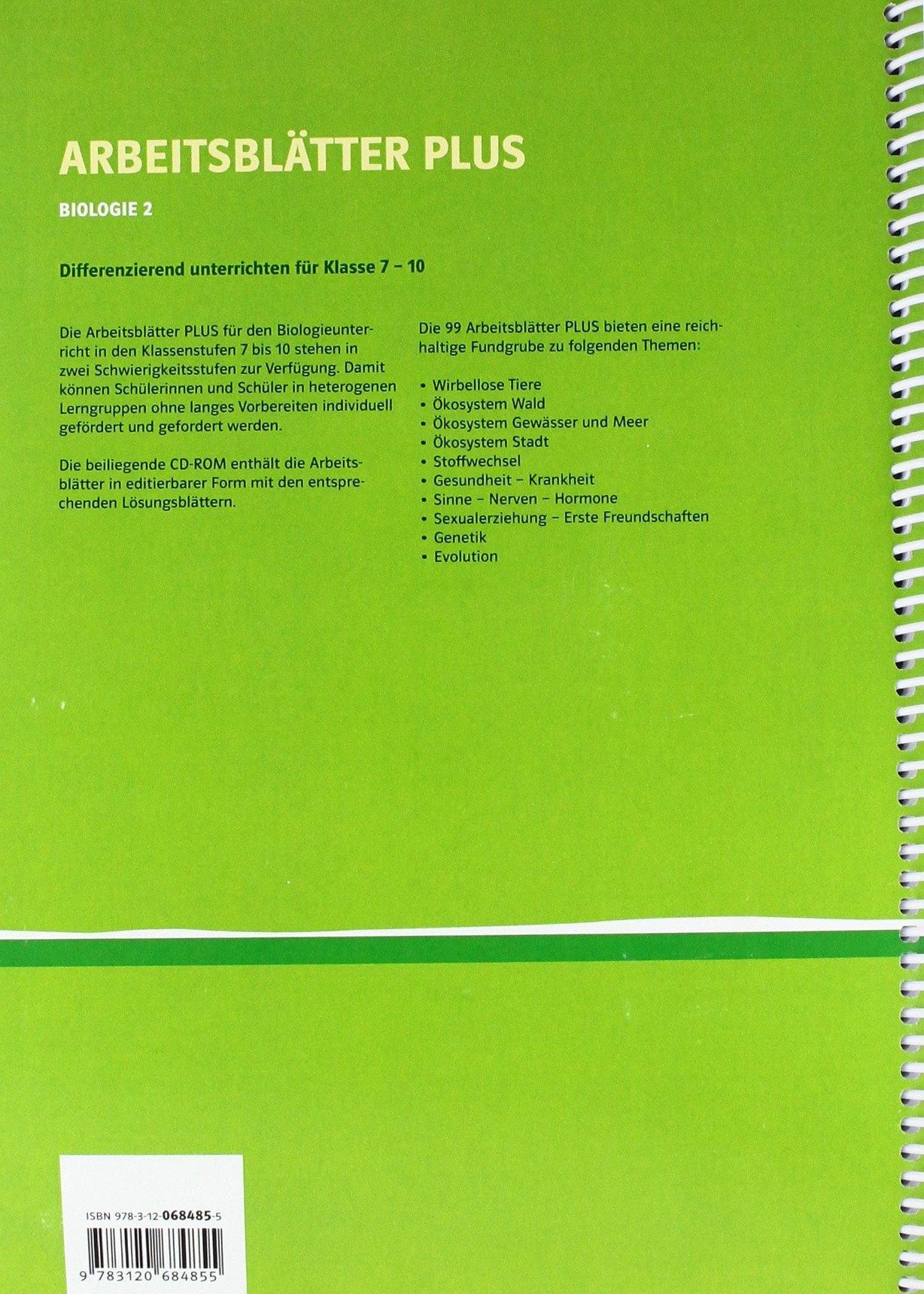 Arbeitsblätter PLUS - Biologie 7.-10. Schuljahr, m. CD-ROM ...