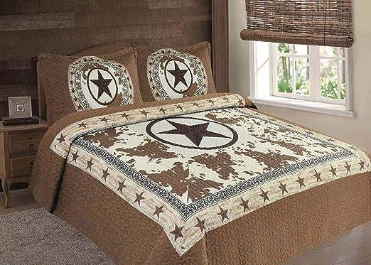Blue Cross Western 5 Piece Super Size Comforter Bedding Set FREE SHIPPING