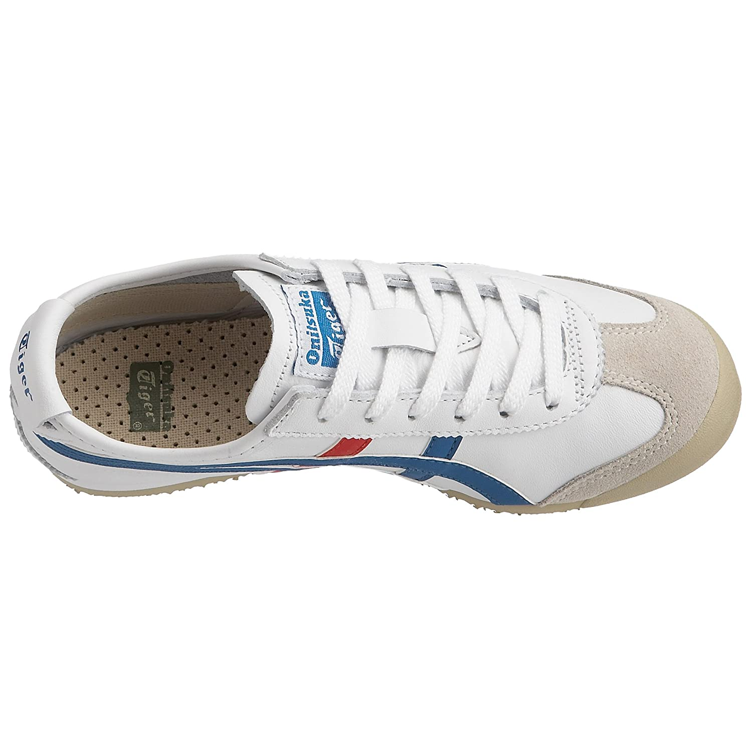 Onitsuka Tiger Mexico 66 Fashion Sneaker B000B2MEUG 12 M Men's US/13.5 Women's M US|White/Blue