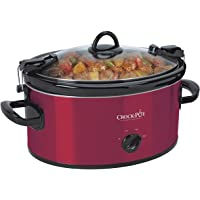 Crock-Pot 6-Quart Cook & Carry Oval Manual Portable Slow Cooker (Red)