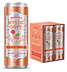 Beckett's MYSTIC DOVE PALOMA | Non-Alcoholic Tonics | Sparkling Cocktail with Distilled Botanicals | Gluten-Free NA Seltzer Beverage | Low Calorie | 12 fl oz Cans (Pack of 8)