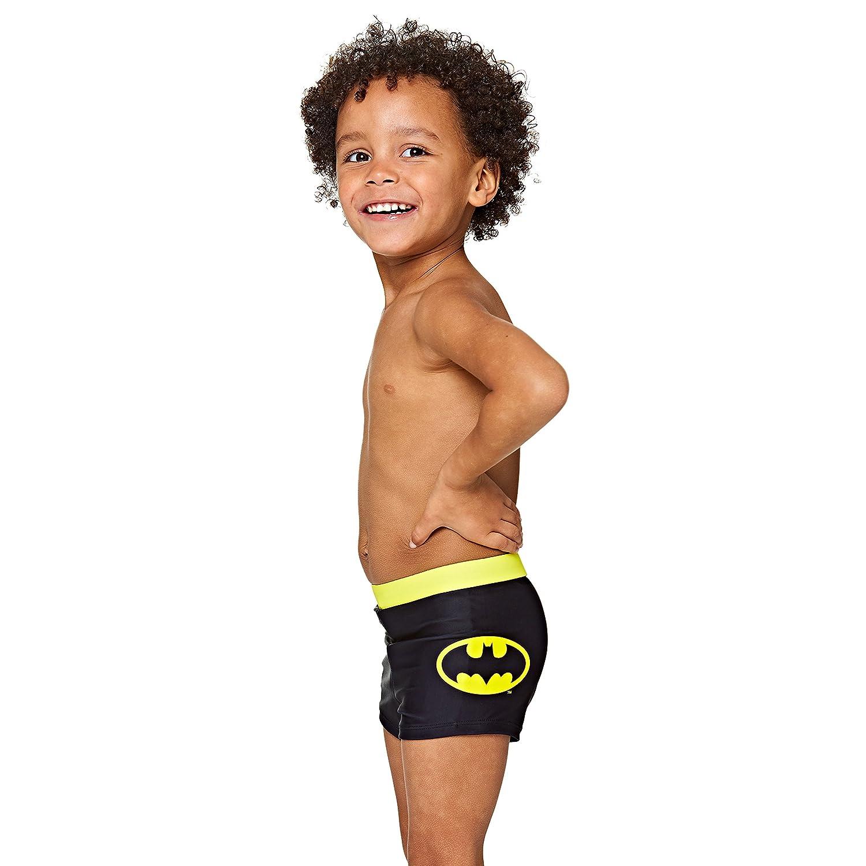 15f7c4dd3966e Details about Zoggs Boys' Batman Panelled Hip Racer, Black/Yellow