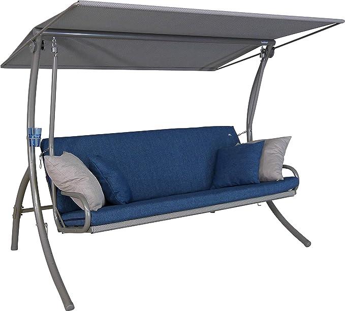 Angerer Hollywoodschaukel Elegance Smart Columpio de jardín, Azul, 3-Sitzer: Amazon.es: Jardín