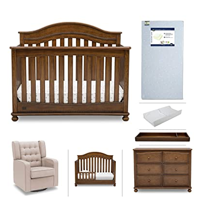 Baby Nursery Furniture Set - 7 Pieces Including Convertible Crib, Dresser,  Glider, Crib - Amazon.com: Baby Nursery Furniture Set - 7 Pieces Including