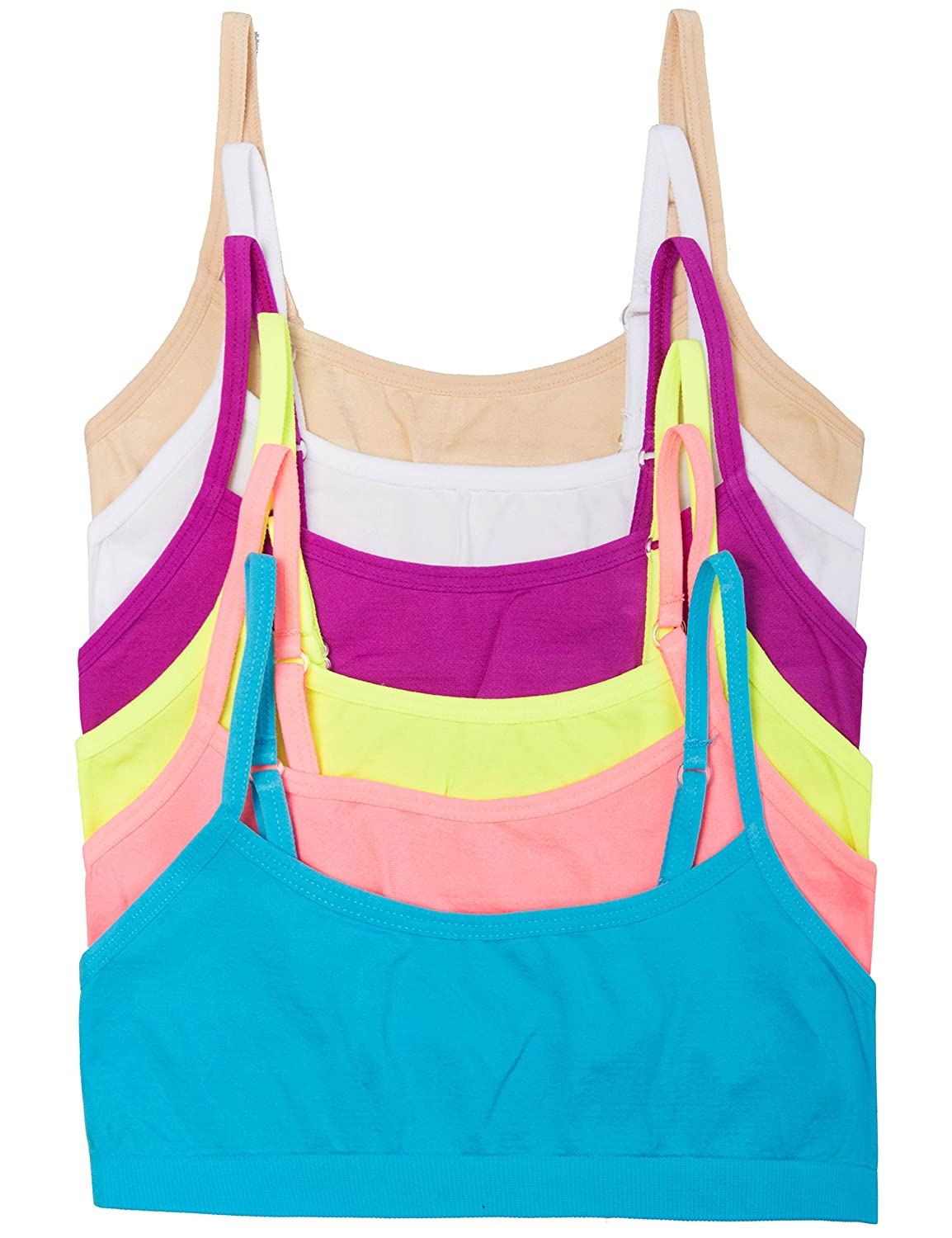 Caramel Cantina 6 Pack Big Girls Seamless Training Bras