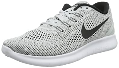 20b0bfe8447f8 Nike Women s Free RN Running Shoes White Pure Platinum Black 5 B(M