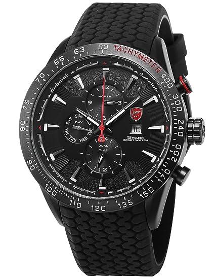 Blacktip Shark Deportivos Relojes De Pulseras Hombre Silicona SH395: Amazon.es: Relojes