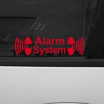 Amazon.es: GreenIT - Pegatinas con texto «Alarm System» para ...