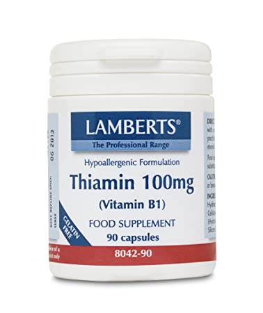 Amazon.com : Lamberts Lamberts, Thiamin 100mg (vitamin B1), 90 Capsules. : Beauty