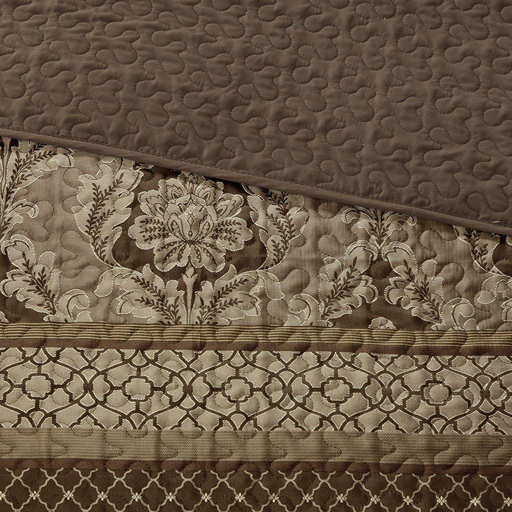 Madison Park Bellagio Bedspread Set, Oversize King, Brown/Gold by Madison Park (Image #4)