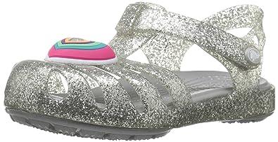586a38e2fe88fa Crocs Girls Isabella Novelty Sandal Flat  Amazon.co.uk  Shoes   Bags