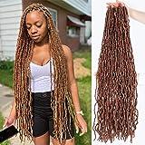 36 Inch Faux Locs Crochet Hair Super Long Soft Locs Crochet Braids Hair 4 Packs/lot 180g Goddess Locs Dreadlocs Synthetic Hai
