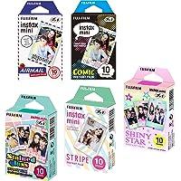Fujifilm Instax Mini Bundle Includes Stained Glass, Comic, Stripe, Shiny Star, Airmail