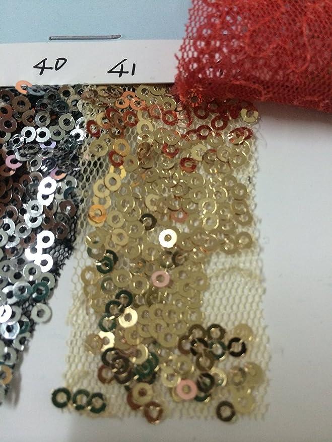 Trlyc 92cmx215cm Golden Pailletten Hintergrund 3ft X7ft Sparkly Pailletten Vorhang Für