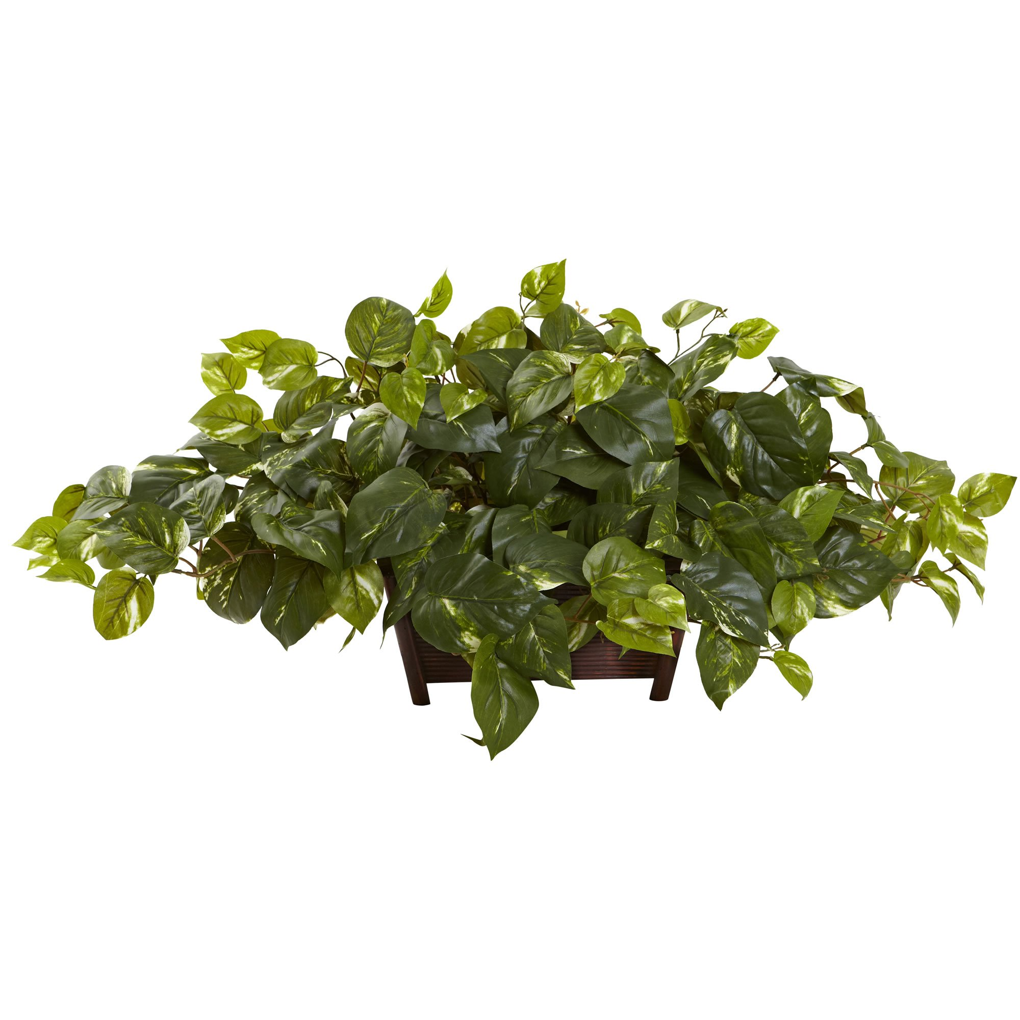 Nearly Natural Pothos Silk Plant with Decorative Planter