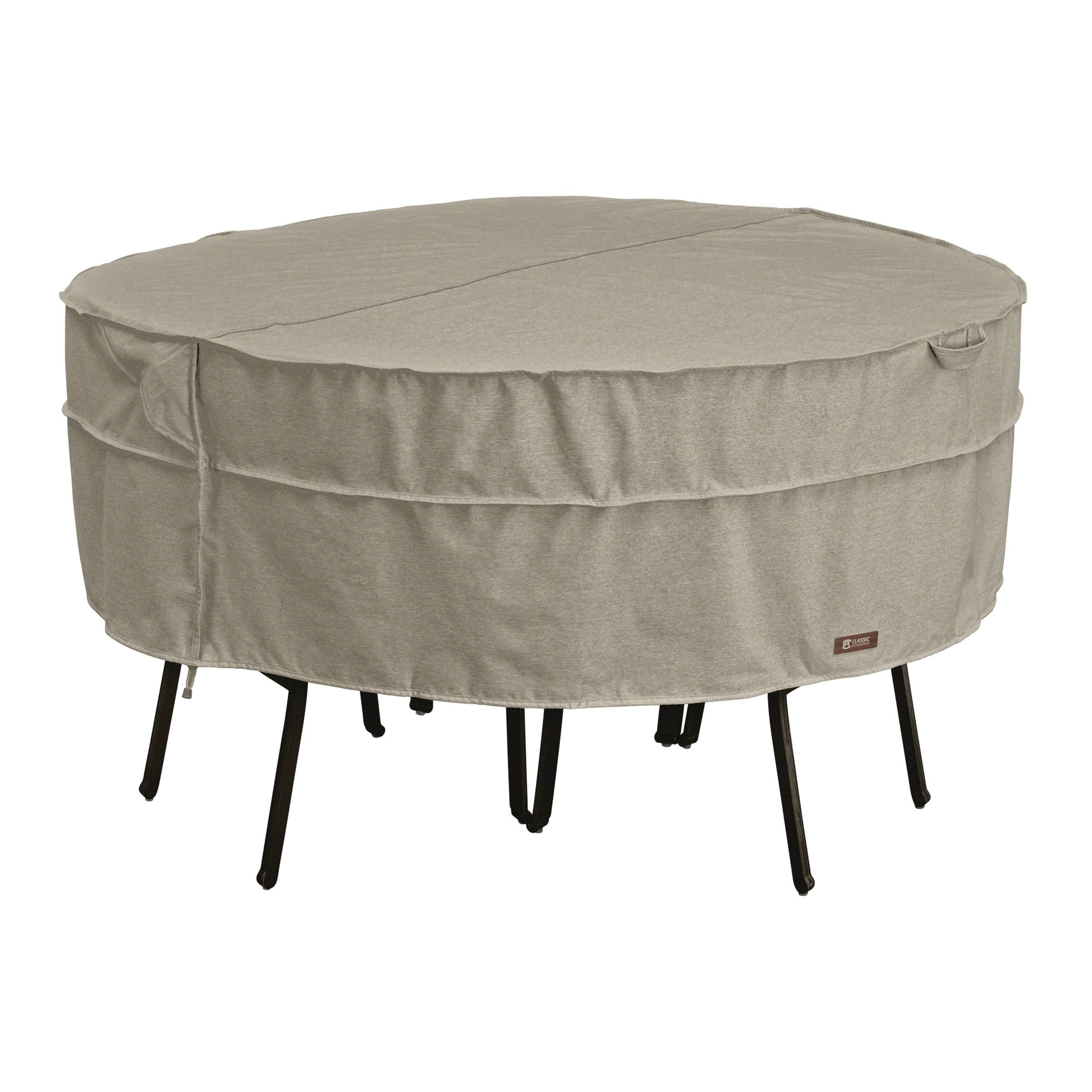 Classic Accessories Montlake Round Patio Table & Chair Set Cover, Large