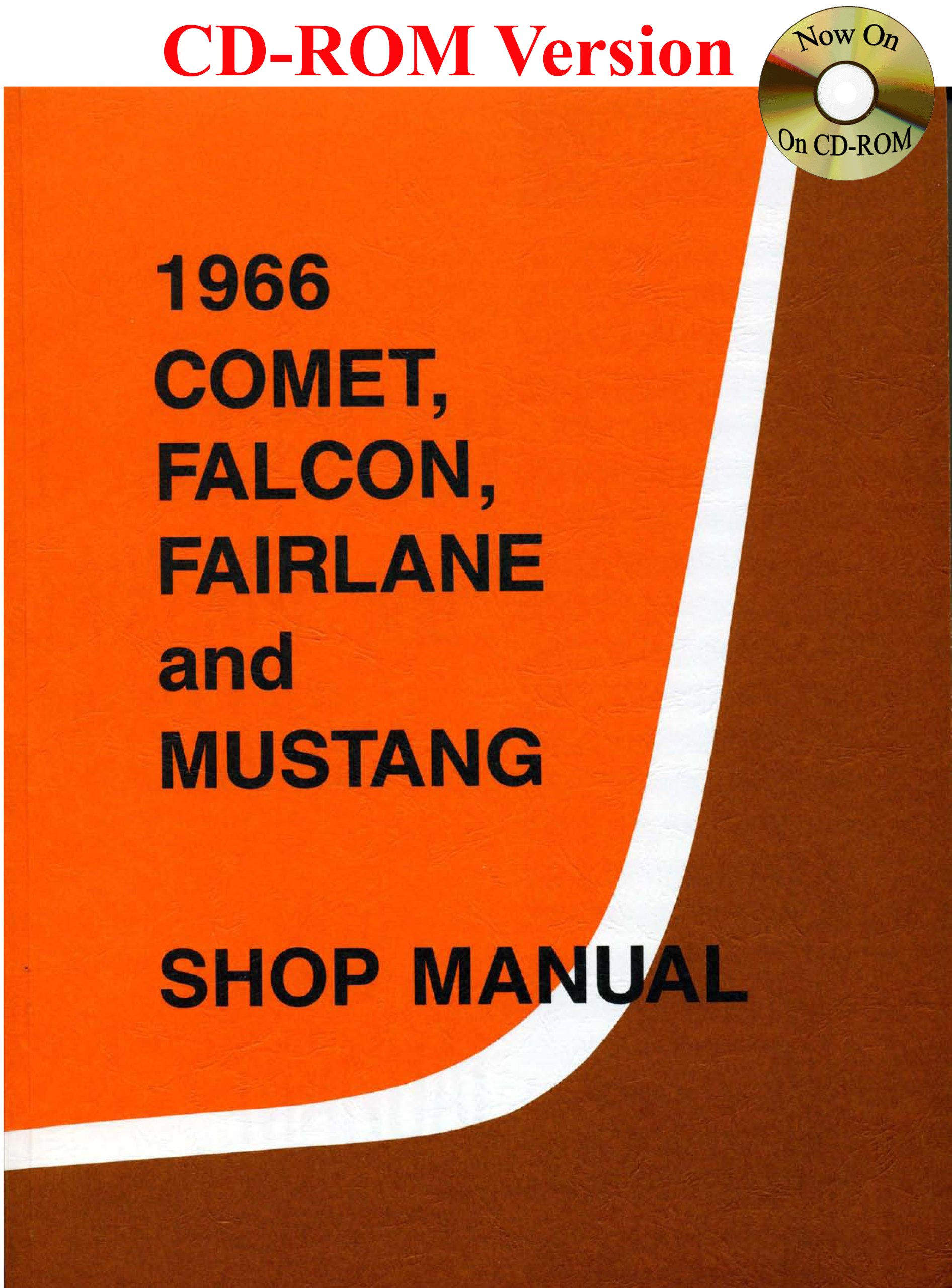 1966 comet falcon fairlane and mustang shop manual multimedia cd august 1 2006