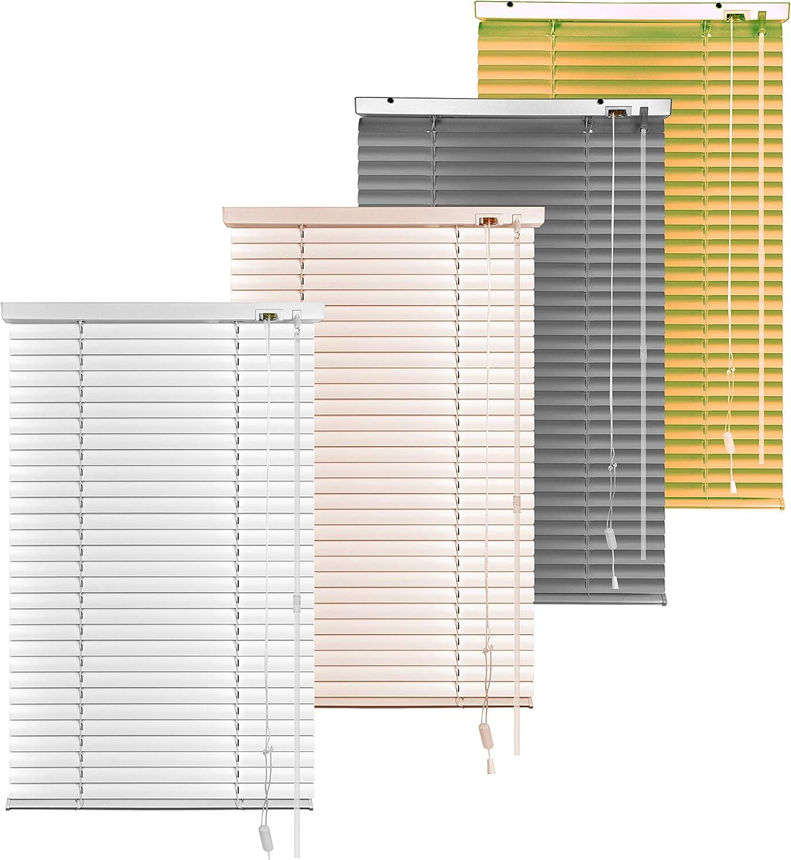 S SIENOC Persiana, persiana de Aluminio,persianas venecianas de Aluminio, persianas venecianas, estores para Ventana (Plata, 100x220 cm)