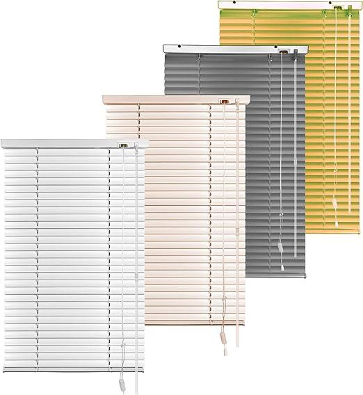 S SIENOC Persiana, persiana de Aluminio,persianas venecianas de Aluminio, persianas venecianas, estores para Ventana (Blanco, 90x220 cm)