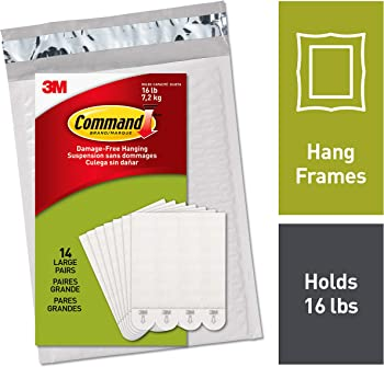 28-Pack 3M Command Large Picture Hanging Strips