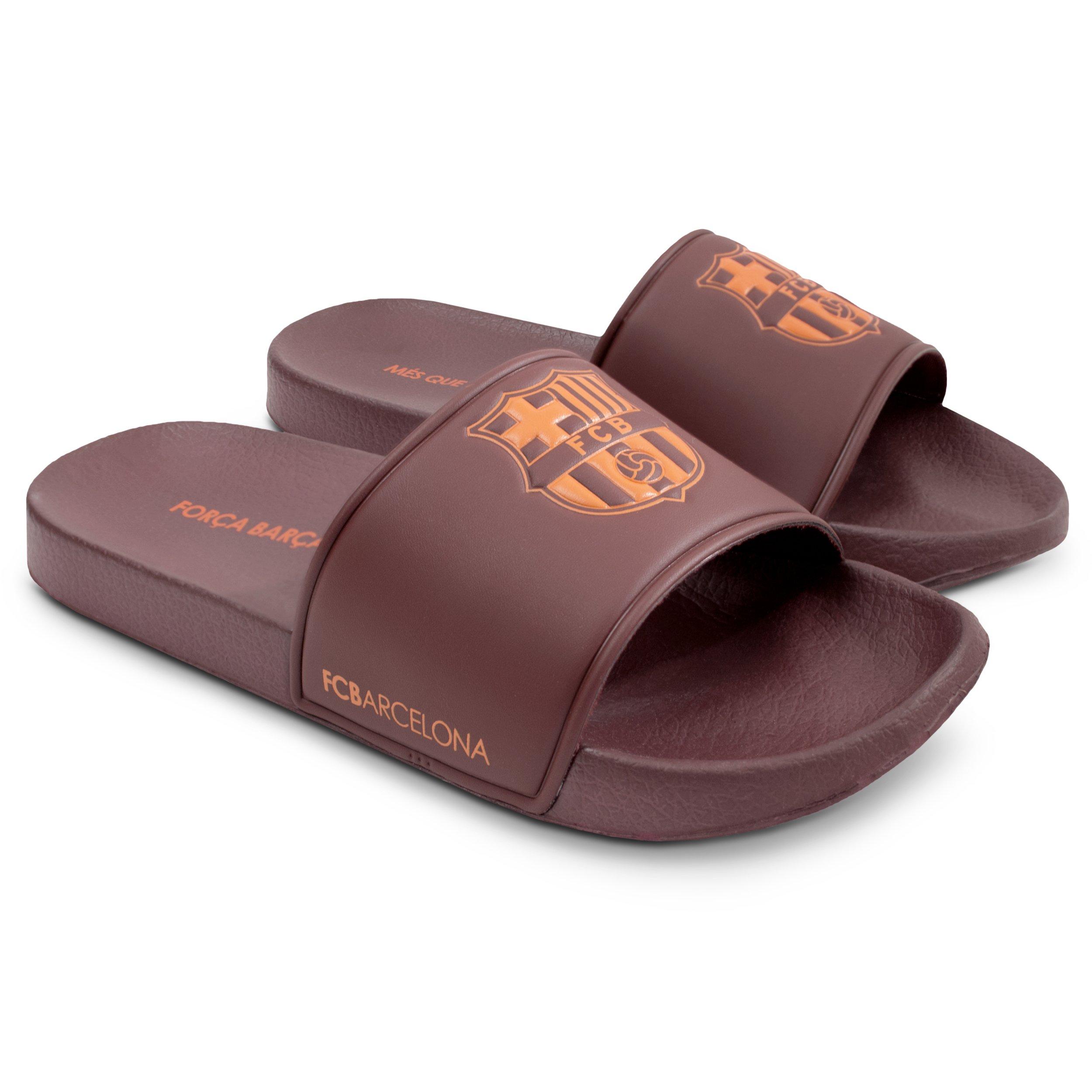 922970372de FC Barcelona Men Pool Slide Sandal – Water-Resistant Slippers for Beach    Shower product
