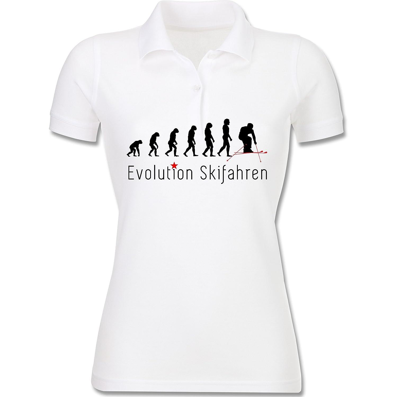 Evolution - Skifahren Evolution - Poloshirt aus Baumwolle mit Piqué für Frauen