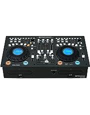 Pronomic CDJ-500Estación completa doble para DJ, con reproductor de CD (formato autónomo, entradas para teléfono/línea, CD, MP3CD, SD y USB, crossfader)