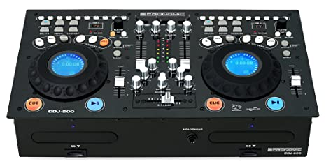 Pronomic CDJ-500 Estación completa doble para DJ, con reproductor de CD (formato