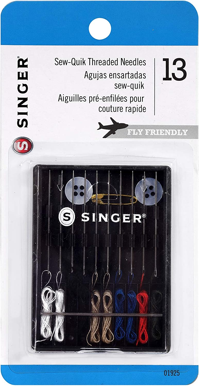 Singer Sew-Quik Pre Threaded Needle Kit 3-Pack