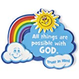"""(Makes 12) """"All Things Are Possible With God"""" Magnet Craft Kit"""