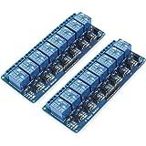 Bestgle 2ピース8チャネル·リレーインタフェースボード8チャネル·チャンネルリレーモジュールリレー制御盤のplcリレー5ボルトモジュール