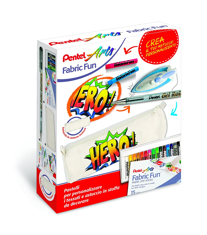 Pentel PTS Kit Pastelli per Tessuto e Sacca