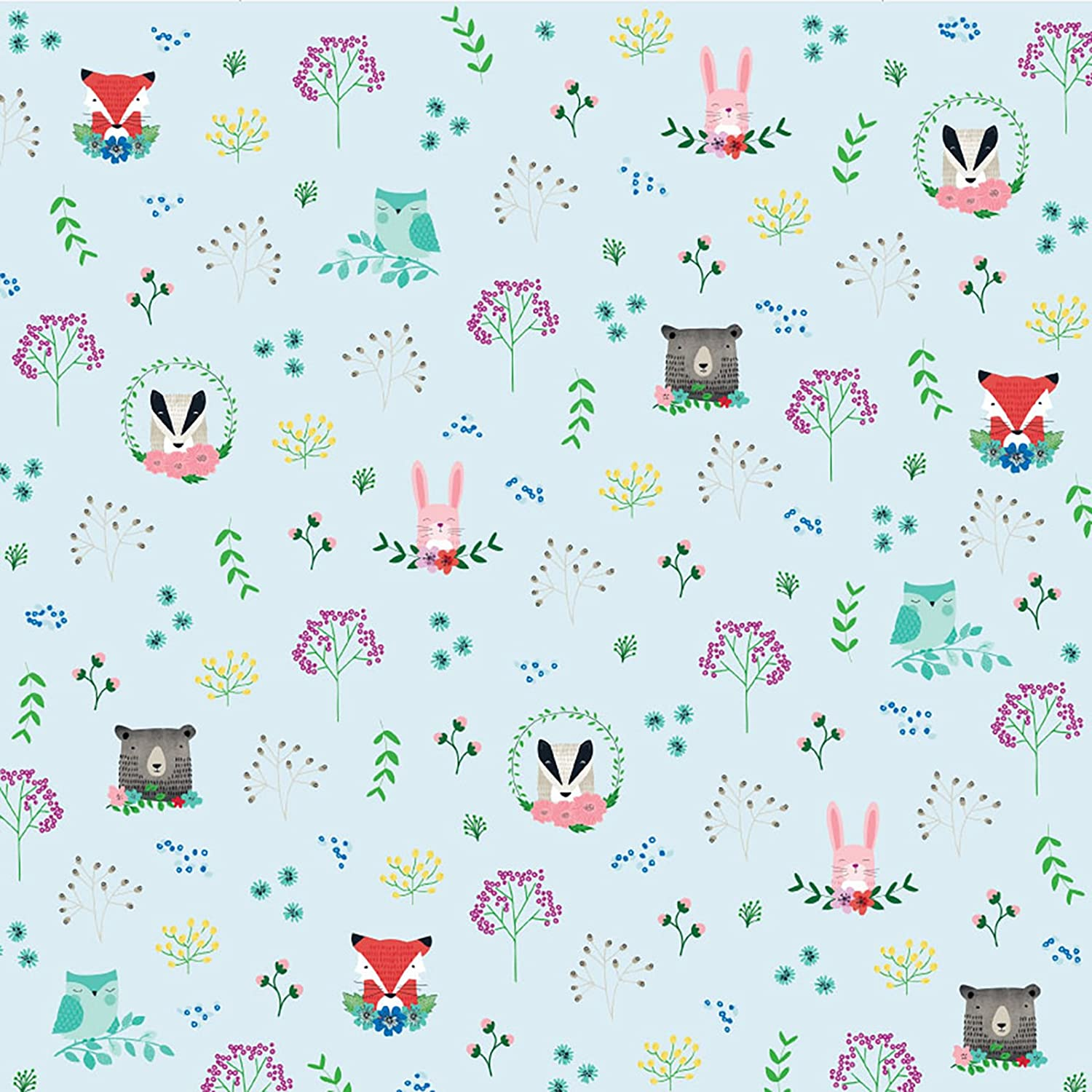 8d2adefe7544 American Crafts 341436 Forest Friends Paper (25 Pack)