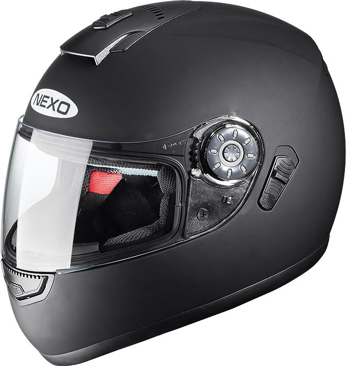 Nexo Integralhelm Motorradhelm Helm Motorrad Mopedhelm Travel Integrierte Sonnenblende Mehrfache Be Und Entlüftung Ratschenverschluss Wangenpolster Komplett Herausnehmbar Und Waschbar Xs Xl Auto