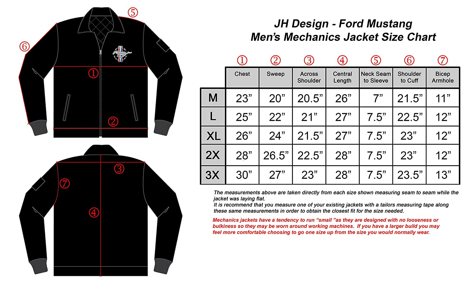 446a902d Amazon.com: Ford Mustang Men's Mechanics Jacket with Front Chest Emblem  Black Gray Navy: Clothing