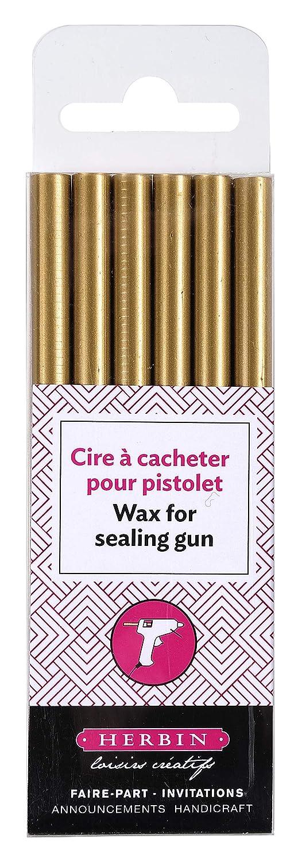 photograph about Crucible Candle Printable identified as Herbin Wax Gun Sticks, Gold, 6 Sticks