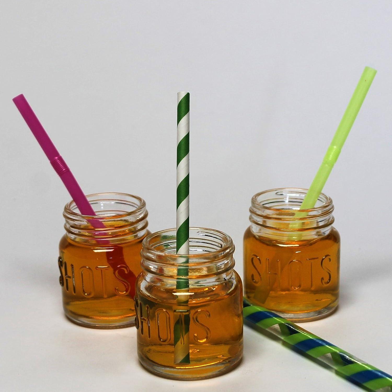 Amazon.com | Mason Jar 2 Ounce Shot Glasses Set of 12 With Leak ...