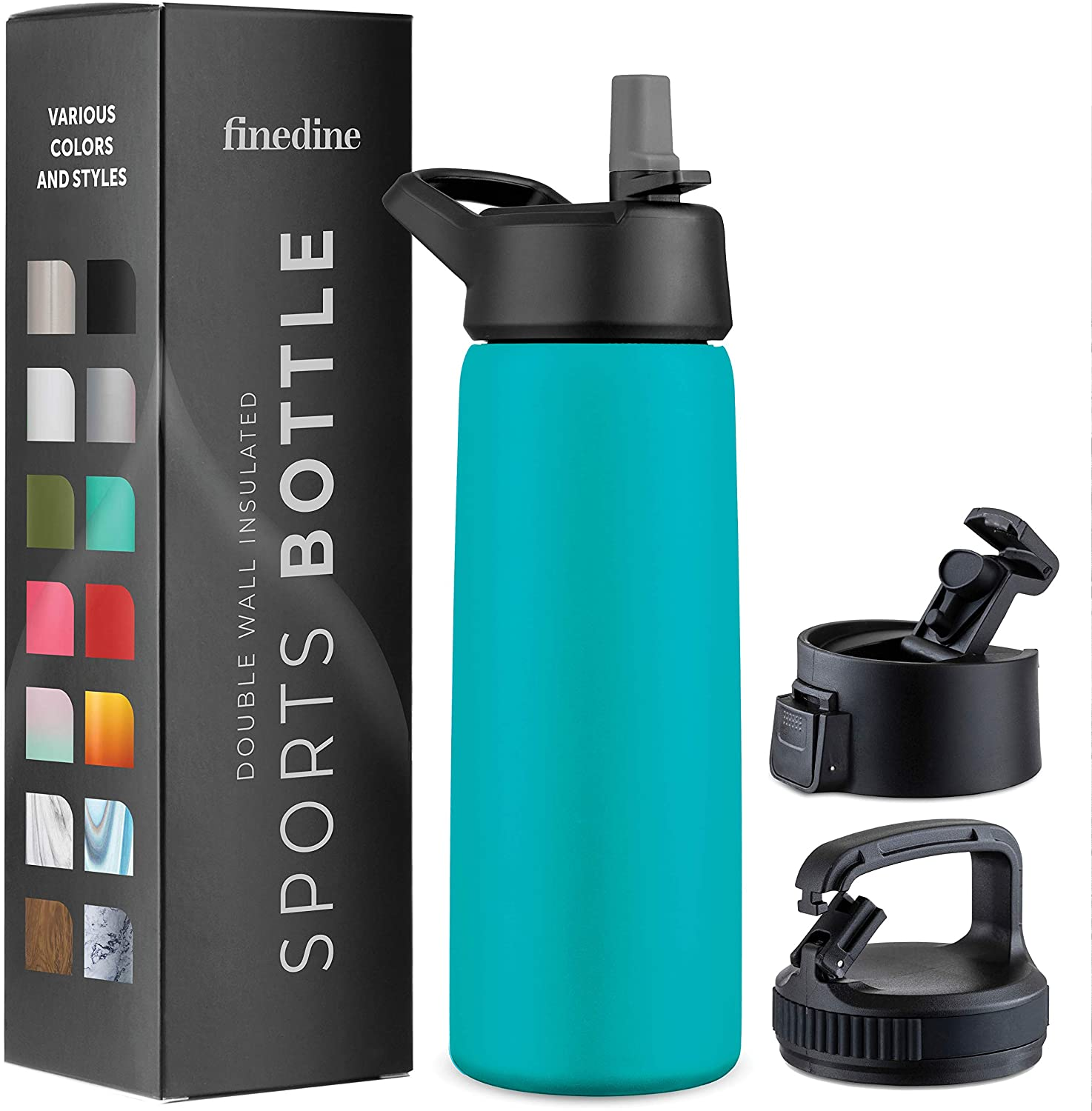 Inky Raven Black Insulated Water Bottles Sports Canteen Water Bottle Great for Hiking /& Biking Keeps Hot and Cold 20 oz Triple Insulated Stainless Steel Water Bottle Flip Top Lid -