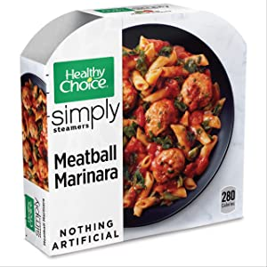 Healthy Choice Simply Steamers Frozen Dinner, Meatball Marinara, Packed with Protein, 10 Ounce