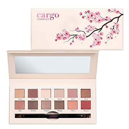 Cargo Cosmetics Limited Edition Tokyo In Bloom 12-Well Longwear Eye Shadow, Palette, 7 oz.